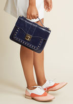 PH-16278 Navy Upon your debut of this navy purse, your day will be spent earning compliments and answering Q's about its fine design! You're thrilled to discuss the dual-sectioned interior and sleek silhouette of this posh bag to all that inquire - but your favorite de