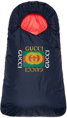 Gucci Baby footmuff with logo