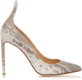Francesco Russo Point-toe snakeskin pumps