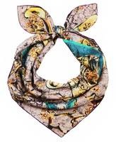 Unpaired - Window Earthy Rose Silk Square Scarf