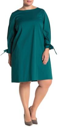 Lafayette 148 New York Paige Bow Cuff Shift Dress (Plus Size)