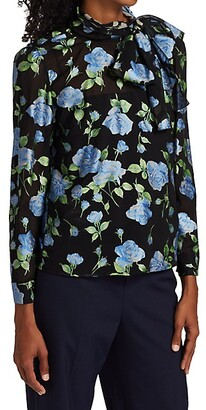 RED Valentino Semi-Sheer Floral Blouse