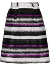 Oscar de la Renta Belted bouclé mini skirt