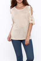 Sweet Claire Casual Beige Top