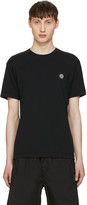 Stone Island Black Embroidered Logo T-Shirt