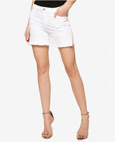 Sanctuary Frayed White Wash Denim Shorts