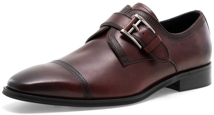 Mens New Double Monk Strap Slip On Smart Formal Dress Work Office Leather Shoes