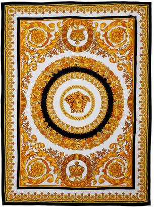 Versace CRETE DE FLEUR COTTON BEACH TOWEL