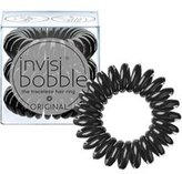 Dorothy Perkins Womens **Invisibobble Black Hair Ties Pack of 3- Black