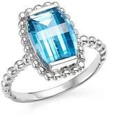 Bloomingdale's Blue Topaz Beaded Ring in 14K White Gold
