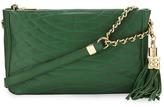 BCBG Bridget Quilted Shoulder Bag, Emerald