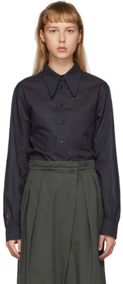 Lemaire Black Pointed Collar Shirt