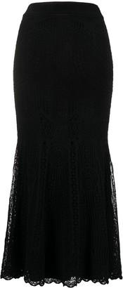 Alexander McQueen Pointelle-Knit Overlay Skirt