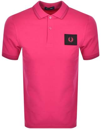 Fred Perry Acid Brights Polo T Shirt Pink