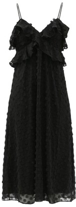 Zimmermann Ruffled Polka-dot Chiffon Dress - Black
