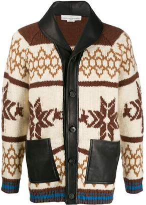 Golden Goose intarsia festive knit cardigan