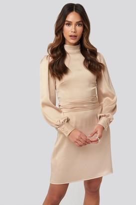 NA-KD High Neck Satin Dress