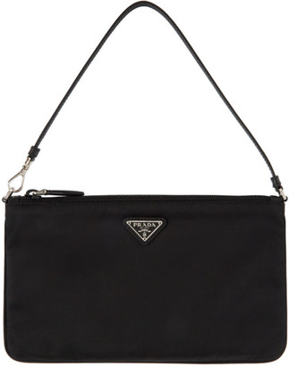 Prada Black Nylon Mini Pouch