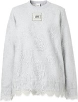 Burberry Lace Overlay Sweatshirt