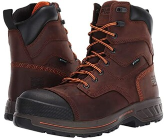 Timberland 8 Helix HD Composite Safety Toe Wateproof Insulated (Brown) Men's Shoes