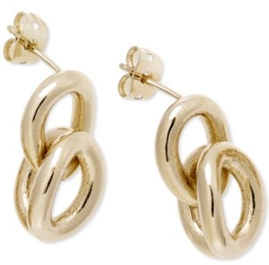 Calvin Klein Statement Link Earrings in Gold-Tone Pvd Stainless Steel