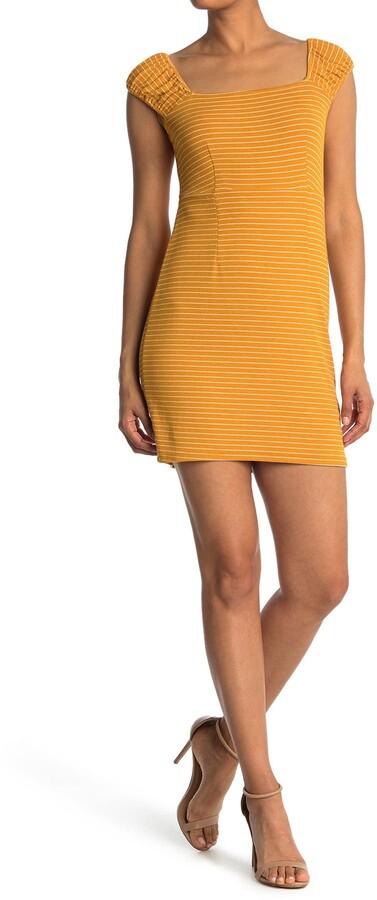 Thumbnail for your product : NSR Striped Cap Sleeve Mini Dress