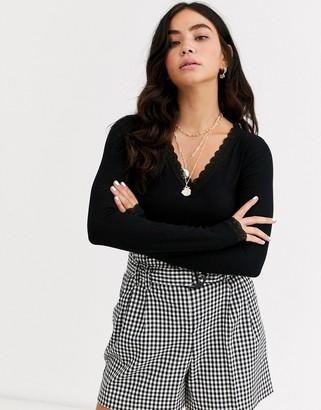 Pieces v neck sweater