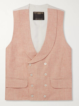Favourbrook Sandalson Prince Of Wales Checked Organic Cotton And Linen-Blend Waistcoat