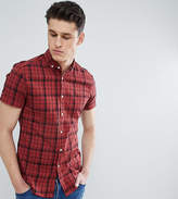 Asos Design Tall Skinny Twill Check Shirt