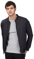 Red Herring Big And Tall Black Quilted Bomber Jacket