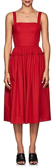 Barneys New York Women's Cotton Poplin Bustier Dress - Red