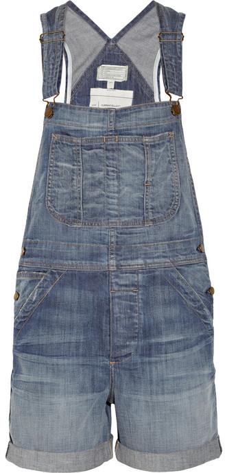 Current/Elliott The Shortall stretch-denim overalls