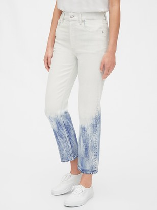 Gap High Rise Bleached Cheeky Straight Jeans