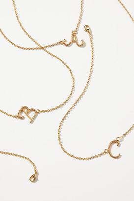 Liza Echeverry Cursive Monogram Pendant Necklace By Liza Echeverry in Alphabet
