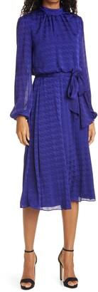 Ted Baker Wilmer Houndstooth Long Sleeve Dress