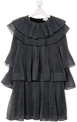 The Marc Jacobs Kids TEEN striped ruffled dress