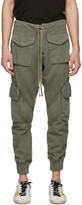 Thumbnail for your product : Greg Lauren Khaki Utility Sweat Cargo Pants