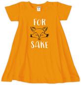 Urban Smalls Orange 'For Fox Sake' Swing Dress - Toddler & Girls