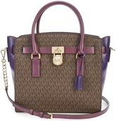 MICHAEL Michael Kors Hamilton Chain-Strap Colorblocked Signature Large Satchel