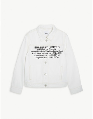 Burberry Dillana brand-print denim jacket 6-14 years