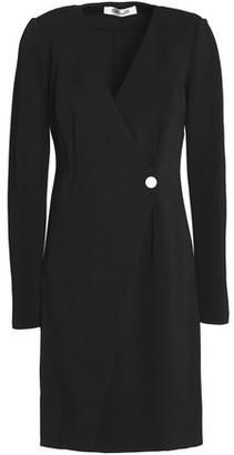 Diane von Furstenberg Ponte Wrap Mini Dress