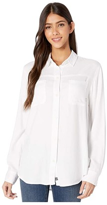 Hurley Wilson Solid Long Sleeve (White) Women's Clothing