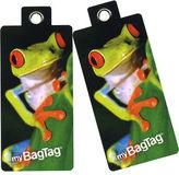 NEW MyBagTag Frog Luggage Tag Set 2pce