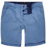River Island MensBlue slim fit chino shorts