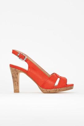 Wallis **Orange Slingback Platform Heel