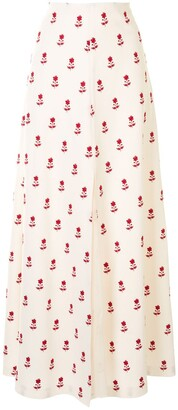 Giambattista Valli Floral Skirt