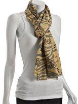 banana 'zeopard' print cashmere-silk scarf