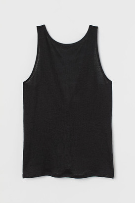 H&M Linen Tank Top - Black