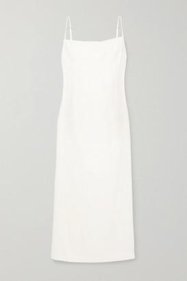 Haight Paula Woven Midi Dress - Off-white