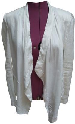 Diane von Furstenberg White Linen Jackets